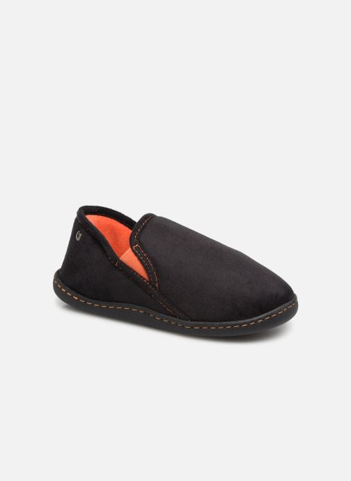 Slippers Isotoner Charentaise Suédine Black detailed view/ Pair view