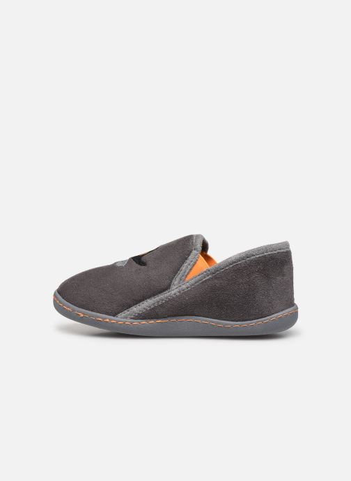 Slippers Isotoner Charentaise Suédine Grey front view