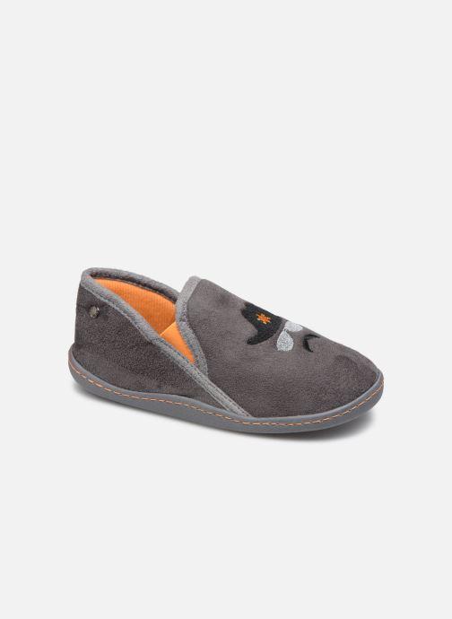 Pantoffels Isotoner Charentaise Suédine Grijs detail