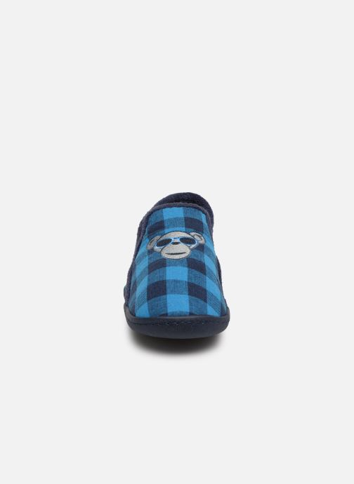 Slippers Isotoner Mocassins Jersey 3 Blue model view