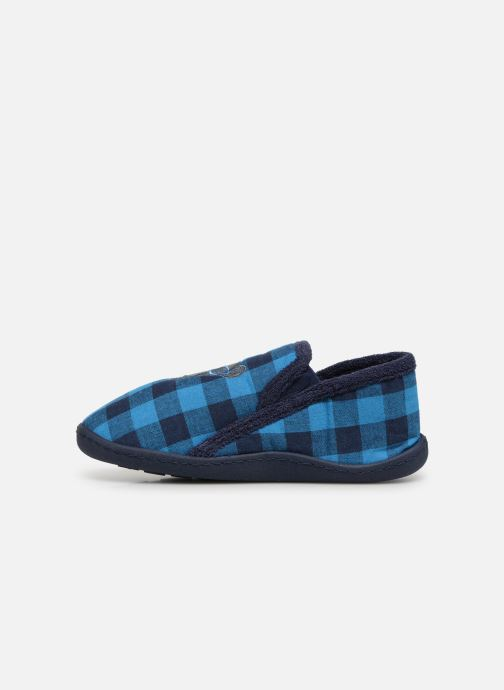 Slippers Isotoner Mocassins Jersey 3 Blue front view