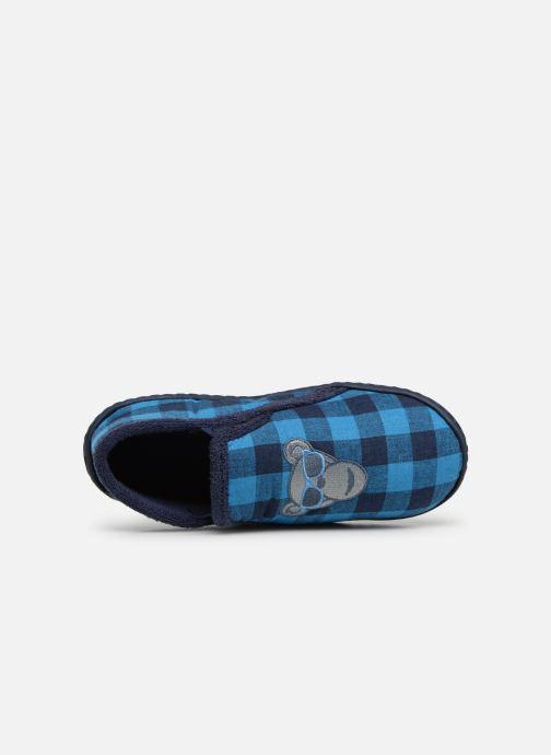Chaussons Isotoner Mocassins Jersey 3 Bleu vue gauche