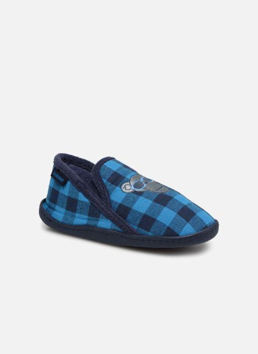 Chaussons Isotoner Mocassins Jersey 3 Bleu vue détail/paire