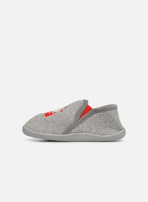 Slippers Isotoner Mocassins Jersey 3 Grey front view