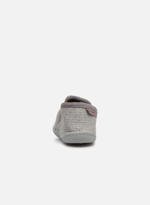 Slippers Isotoner Mocassins Jersey 3 Grey view from the right