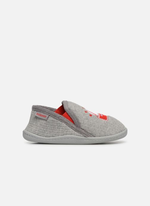 Slippers Isotoner Mocassins Jersey 3 Grey back view