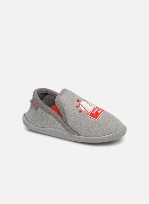 Slippers Isotoner Mocassins Jersey 3 Grey detailed view/ Pair view
