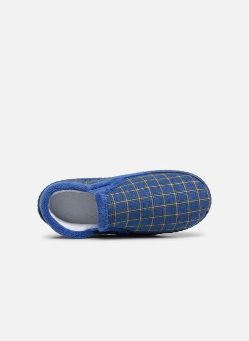 Slippers Isotoner Mocassin V Blue view from the left