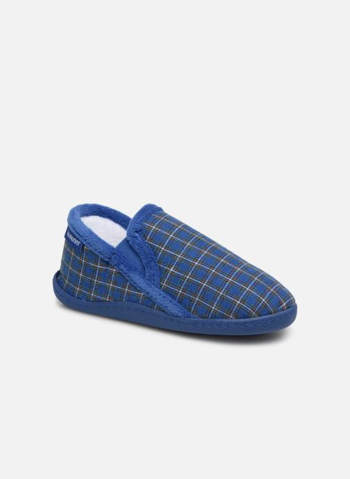 Slippers Isotoner Mocassin V Blue detailed view/ Pair view