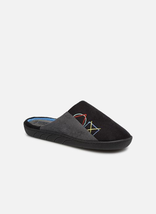 Slippers Isotoner Mule Suédine Black detailed view/ Pair view
