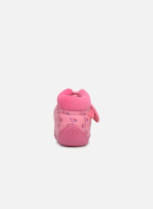 Hjemmesko Isotoner Botillon Velcro Jersey Pink Se fra højre