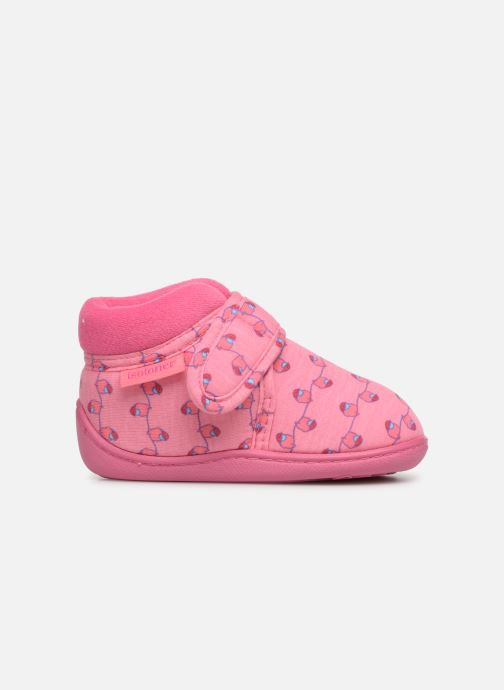 Slippers Isotoner Botillon Velcro Jersey Pink back view