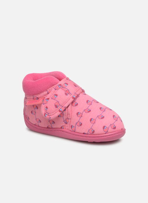 Hjemmesko Isotoner Botillon Velcro Jersey Pink detaljeret billede af skoene
