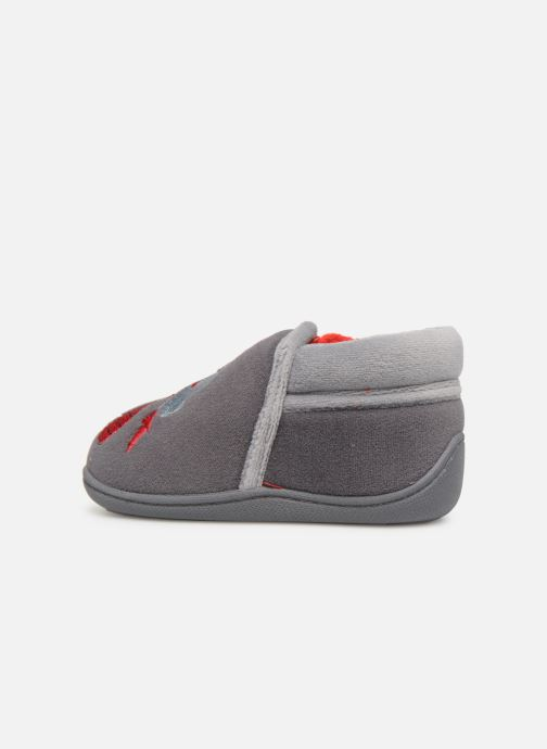 Slippers Isotoner Botillons Zip Velours 2 Grey front view