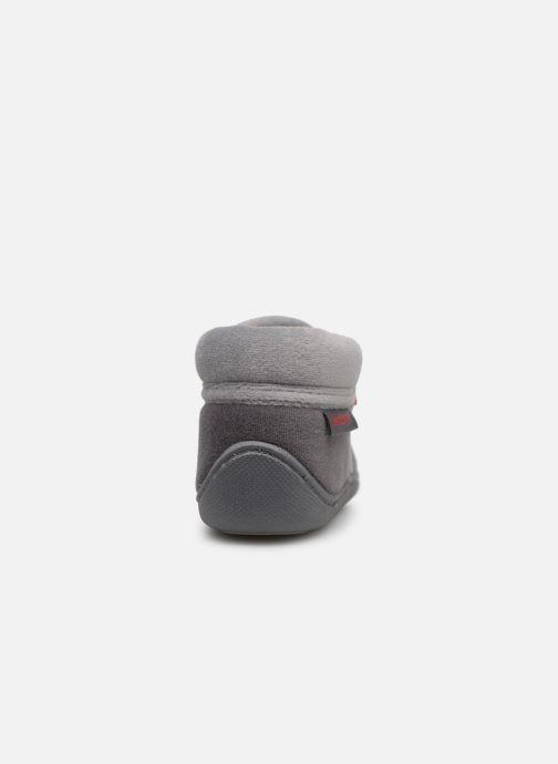 Pantoffels Isotoner Botillons Zip Velours 2 Grijs rechts