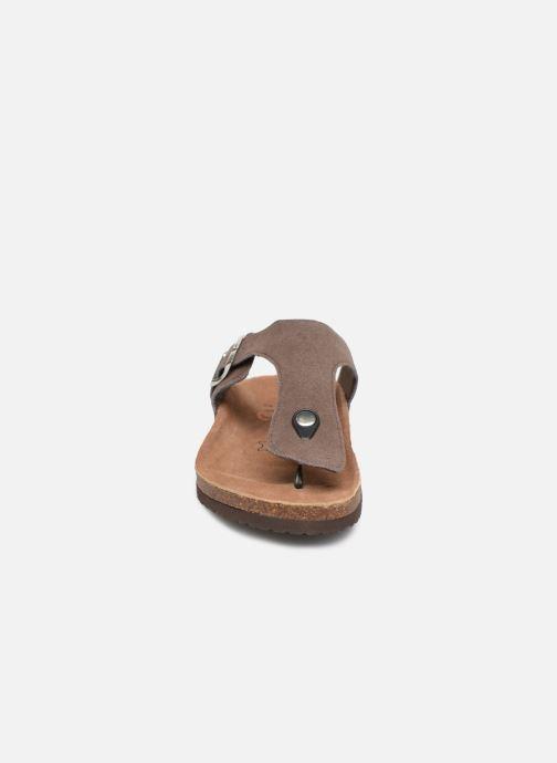 Tongs Roadsign Takeon Marron vue portées chaussures