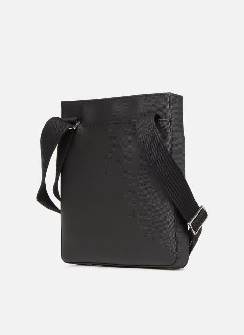 Sacs homme Lacoste MEN'S CLASSIC  FLAT CROSSOVER BAG Noir vue droite