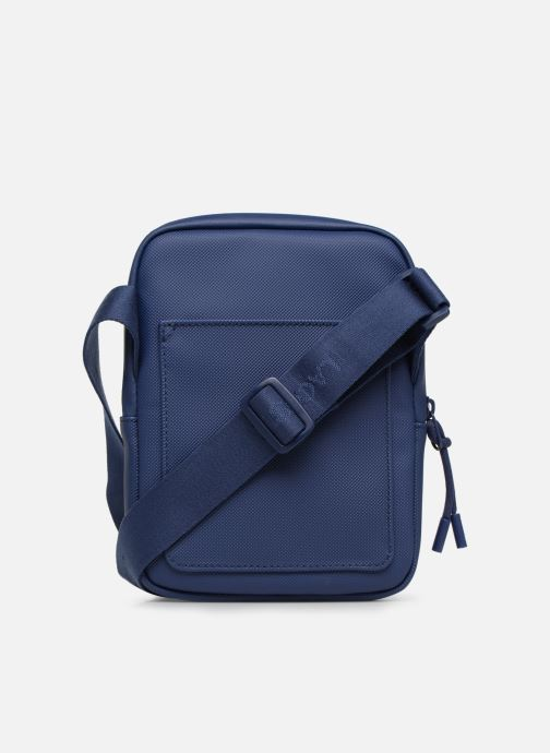 Bolsos de mano Lacoste L.12.12 S FLAT CROSSOVER BAG Azul vista de frente