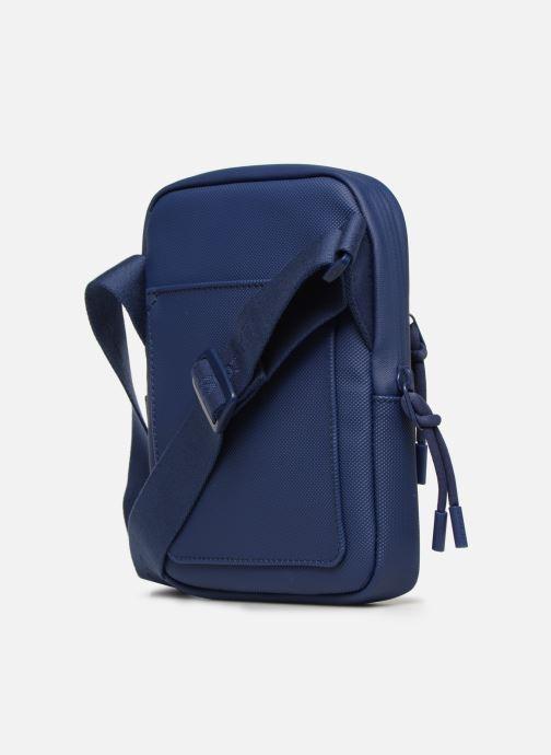 Bolsos de mano Lacoste L.12.12 S FLAT CROSSOVER BAG Azul vista lateral derecha