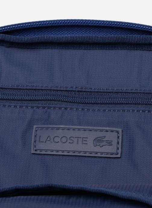 Sacs homme Lacoste L.12.12 S FLAT CROSSOVER BAG Bleu vue derrière