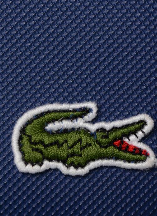 Bolsos de mano Lacoste L.12.12 S FLAT CROSSOVER BAG Azul vista lateral izquierda