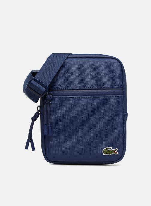 Bolsos de mano Lacoste L.12.12 S FLAT CROSSOVER BAG Azul vista de detalle / par