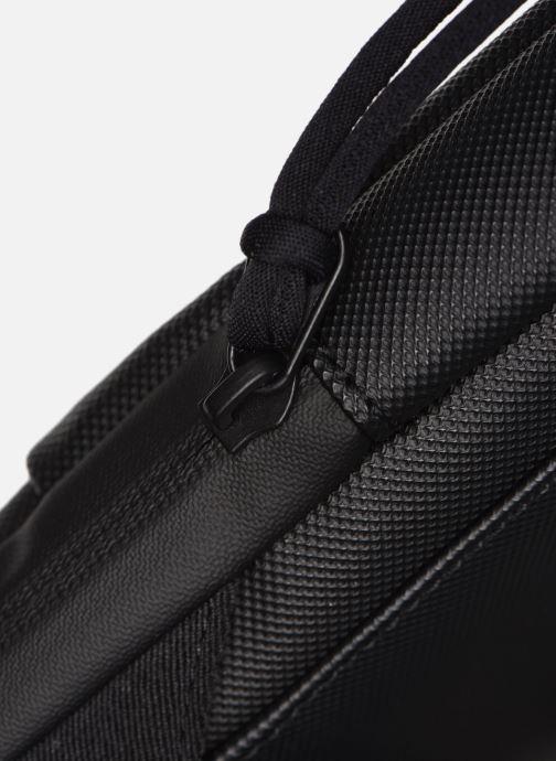 Bolsos de hombre Lacoste L.12.12 S FLAT CROSSOVER BAG Azul vista lateral izquierda