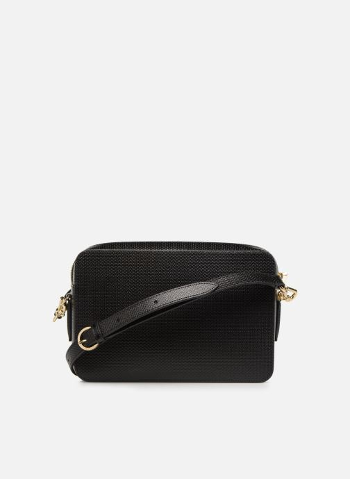 Handtaschen Lacoste CHANTACO CUIR SQUARE CROSSOVER BAG schwarz ansicht von vorne