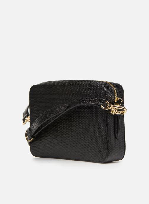 Handtaschen Lacoste CHANTACO CUIR SQUARE CROSSOVER BAG schwarz ansicht von rechts