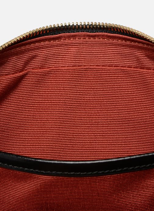 Handtaschen Lacoste CHANTACO CUIR SQUARE CROSSOVER BAG schwarz ansicht von hinten