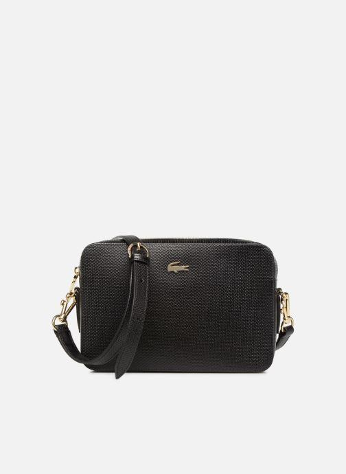 Handtaschen Lacoste CHANTACO CUIR SQUARE CROSSOVER BAG schwarz detaillierte ansicht/modell