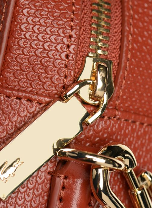 Handtaschen Crossover Chantaco Square Lacoste 349686 Bag Cuir rot OxRBwY