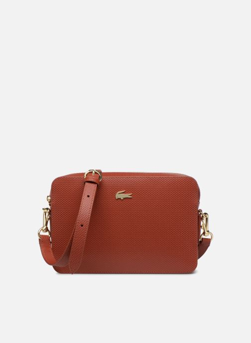Chantaco Lacoste Cuir Bag Crossover Square 349686 rot Handtaschen qCArCdxw