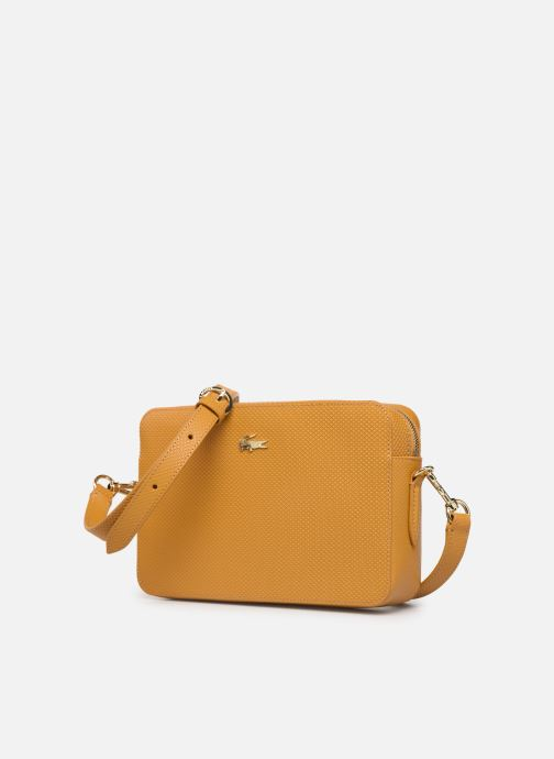 Handbags Lacoste CHANTACO CUIR SQUARE CROSSOVER BAG Yellow model view