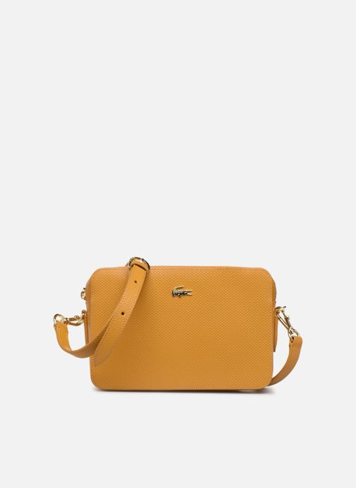 Handbags Lacoste CHANTACO CUIR SQUARE CROSSOVER BAG Yellow detailed view/ Pair view