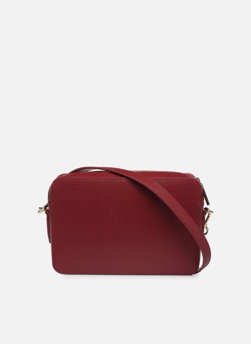 Handtaschen Lacoste CHANTACO CUIR SQUARE CROSSOVER BAG weinrot ansicht von vorne