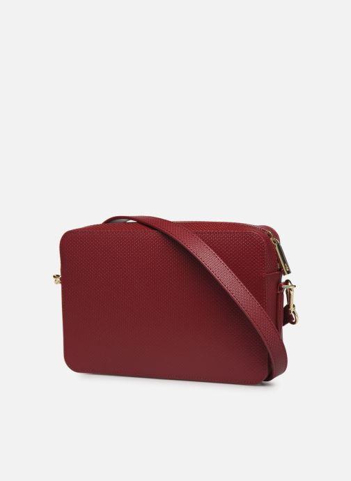 Handtaschen Lacoste CHANTACO CUIR SQUARE CROSSOVER BAG weinrot ansicht von rechts