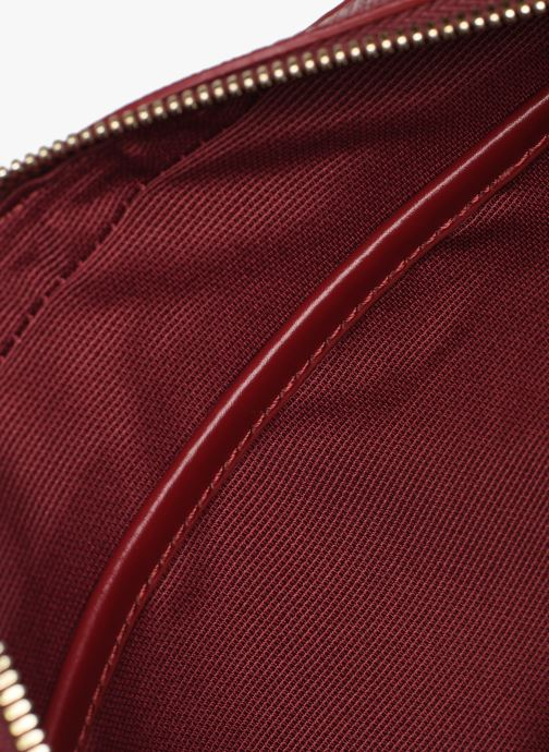 Handtaschen Lacoste CHANTACO CUIR SQUARE CROSSOVER BAG weinrot ansicht von hinten