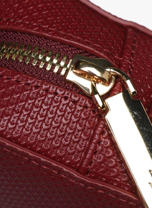 Handtaschen Lacoste CHANTACO CUIR SQUARE CROSSOVER BAG weinrot ansicht von links