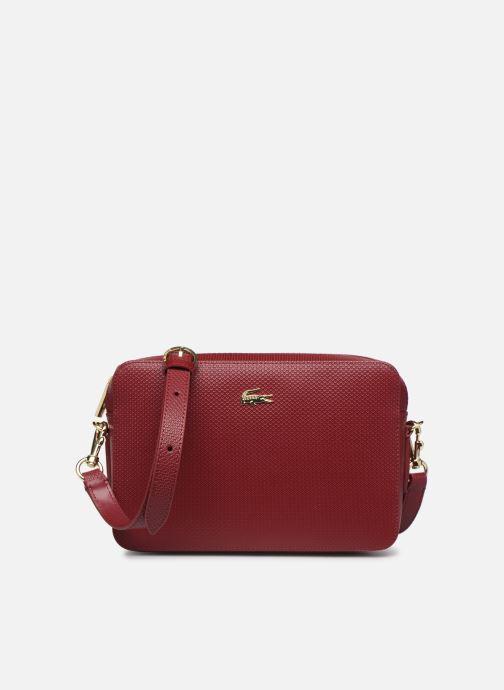 Handtaschen Lacoste CHANTACO CUIR SQUARE CROSSOVER BAG weinrot detaillierte ansicht/modell
