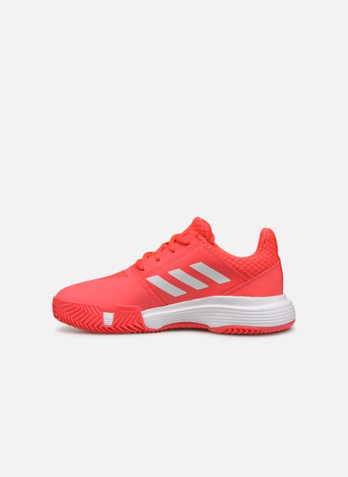 Chaussures de sport adidas performance Courtjam Xj Rouge vue face