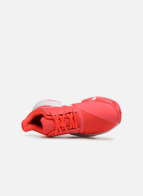 Scarpe sportive adidas performance Courtjam Xj Rosso immagine sinistra