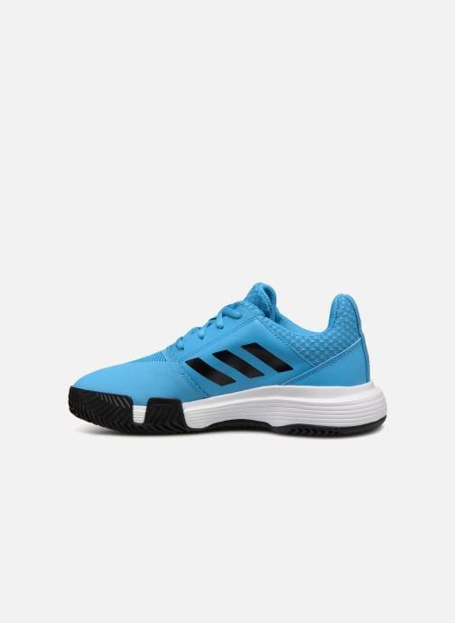 Chaussures de sport adidas performance Courtjam Xj Bleu vue face