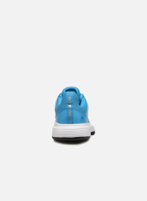 Sport shoes adidas performance Courtjam Xj Blue view from the right