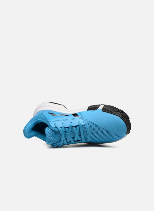 Sport shoes adidas performance Courtjam Xj Blue view from the left
