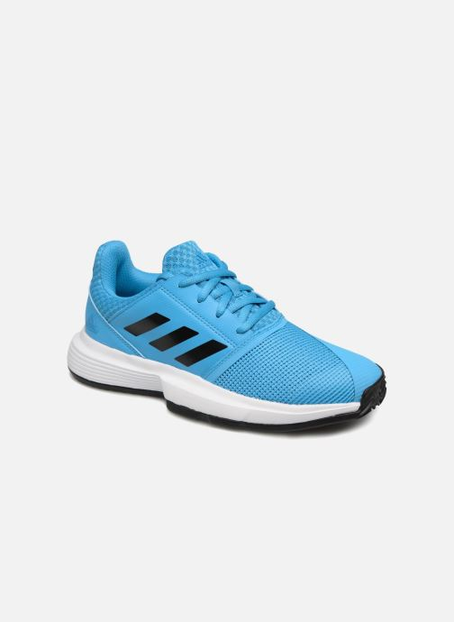Sport shoes adidas performance Courtjam Xj Blue detailed view/ Pair view