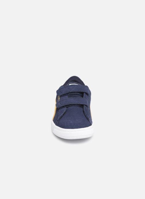 Baskets Puma Suede Classic V Bleu vue portées chaussures