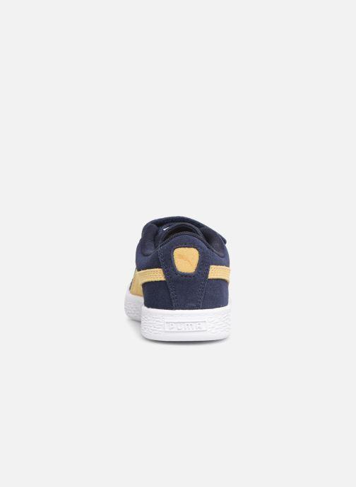 Baskets Puma Suede Classic V Bleu vue droite