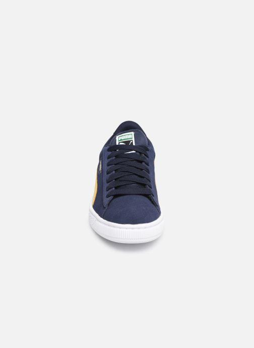 Baskets Puma JR Suede Classic V Bleu vue portées chaussures