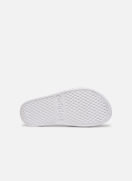 Sandales et nu-pieds adidas performance Adilette Aqua K Blanc vue haut